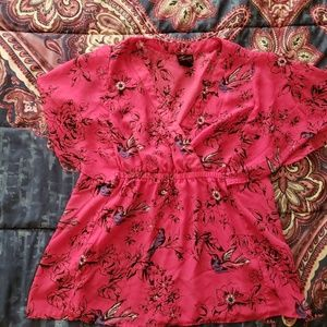 NWOT Torrid 💗 Hot pink blouse